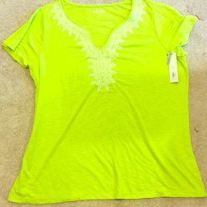 Apt 9 lime green women's shirt